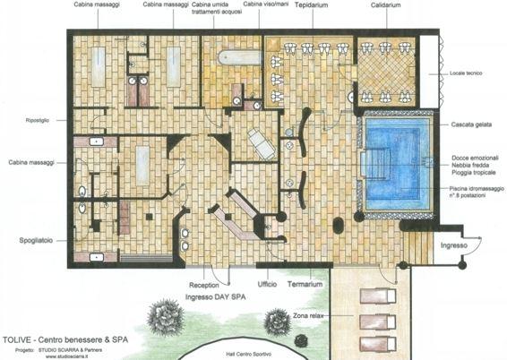 Progetto e realizzazione centro benessere essenthia spa al for Planimetrie della cabina di lusso